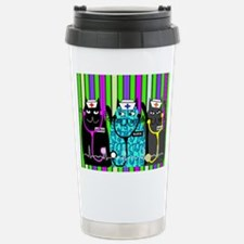 nurse cat blanket 2 stripes.PNG Travel Mug