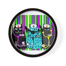 nurse cat blanket 2 stripes.PNG Wall Clock