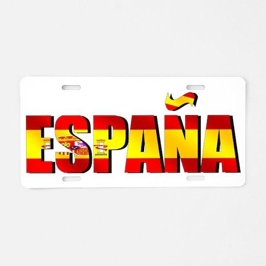 Espana Aluminum License Plate
