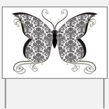 Damask Butterfly.png Yard Sign