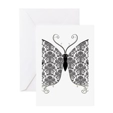 Damask Butterfly.png Greeting Card