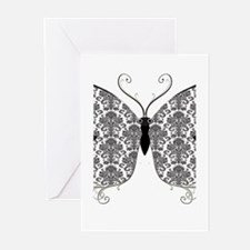 Damask Butterfly.png Greeting Cards (Pk of 10)