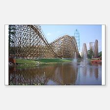Roller Coaster Rectangle Decal