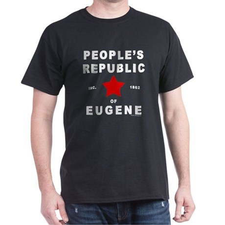 People's Republic of Eugene Black T-Shirt