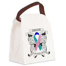 Survivor Thyroid Cancer Canvas Lunch Bag