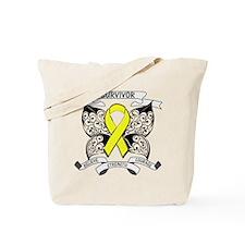 Survivor Sarcoma Cancer Tote Bag