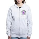 Survivor Pancreatic Cancer Women's Zip Hoodie