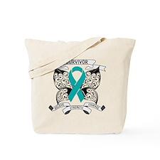 Survivor Ovarian Cancer Tote Bag