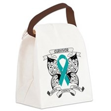 Survivor Ovarian Cancer Canvas Lunch Bag