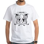 Survivor Mesothelioma Cancer White T-Shirt