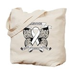 Survivor Mesothelioma Cancer Tote Bag