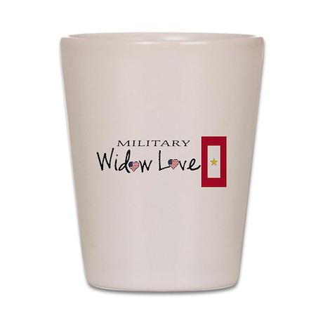Military Gold Star Widow Love Shot Glass