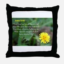 John 3:26 Dandelion Throw Pillow