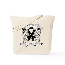 Survivor Strength Melanoma Tote Bag