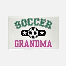 Soccer Grandma Rectangle Magnet