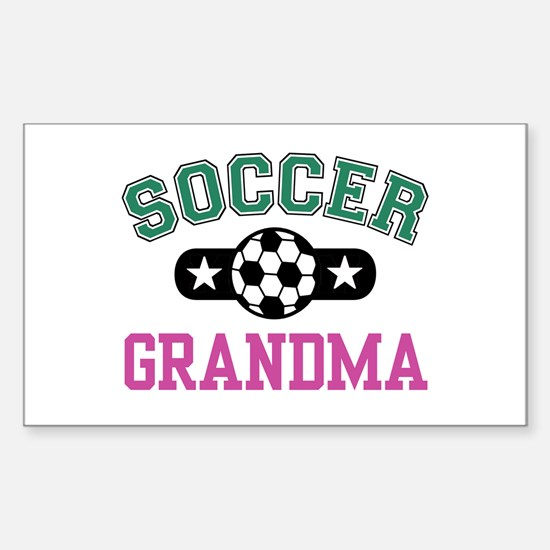 Soccer Grandma Rectangle Decal