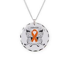 Survivor Kidney Cancer Necklace Circle Charm