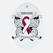 Survivor Head Neck Cancer Ornament (Oval)