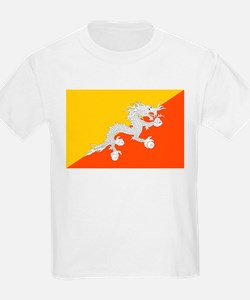 Bhutan - National Flag - Current T-Shirt