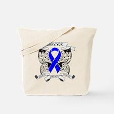 Survivor Colon Cancer Tote Bag