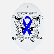 Survivor Colon Cancer Ornament (Oval)