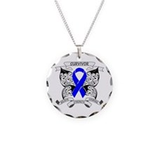 Survivor Colon Cancer Necklace Circle Charm