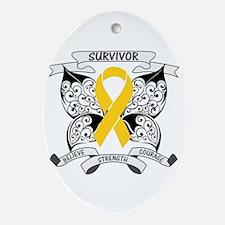 Survivor Childhood Cancer Ornament (Oval)