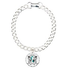 Survivor Cervical Cancer Charm Bracelet, One Charm