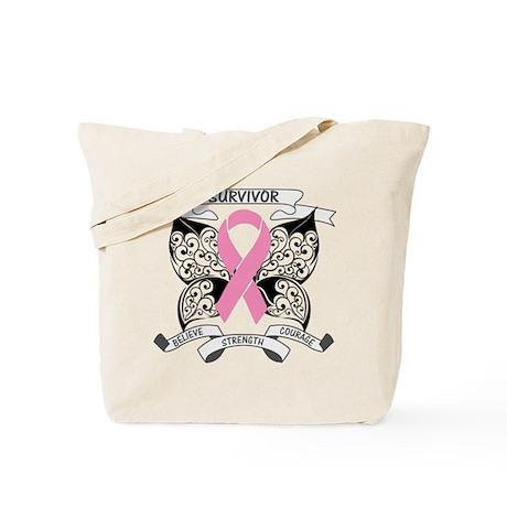 Survivor Breast Cancer Tote Bag