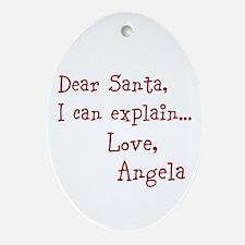 Dear Santa Custom Ornament (Oval)