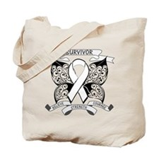 Survivor Bone Cancer Tote Bag