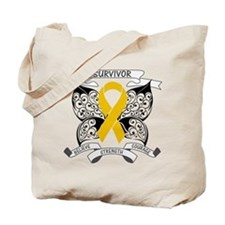 Survivor Appendix Cancer Tote Bag