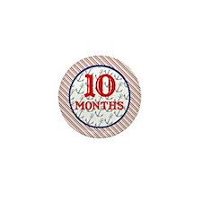 Pirate 10 Months Milestone Mini Button