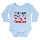 Canadian newborn Long Sleeves Bodysuits