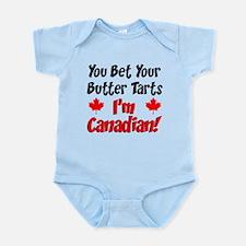 Bet Your Butter Tarts Canadian Infant Bodysuit