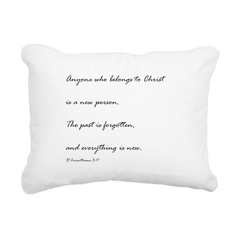 2 corinthians 5:17 Rectangular Canvas Pillow