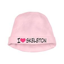 I Heart Skeleton baby hat