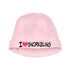 I Heart Snorkeling baby hat