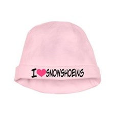 I Heart Snowshoeing baby hat