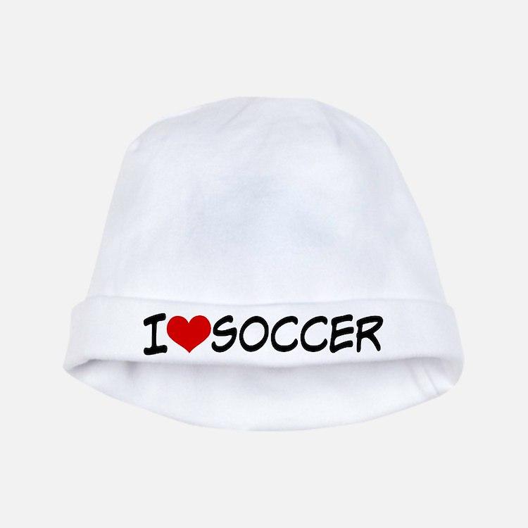 I Heart Soccer baby hat