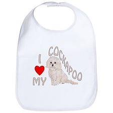 I Love My Cockapoo Bib