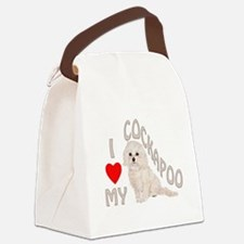 I Love My Cockapoo Canvas Lunch Bag