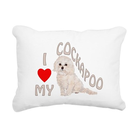 I Love My Cockapoo Rectangular Canvas Pillow