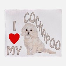 I Love My Cockapoo Throw Blanket
