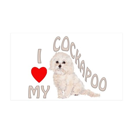 I Love My Cockapoo 35x21 Wall Decal