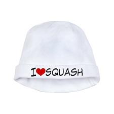 I Heart Squash baby hat