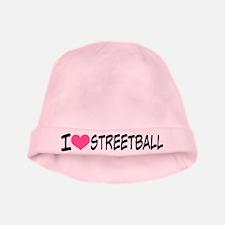 I Heart Streetball baby hat