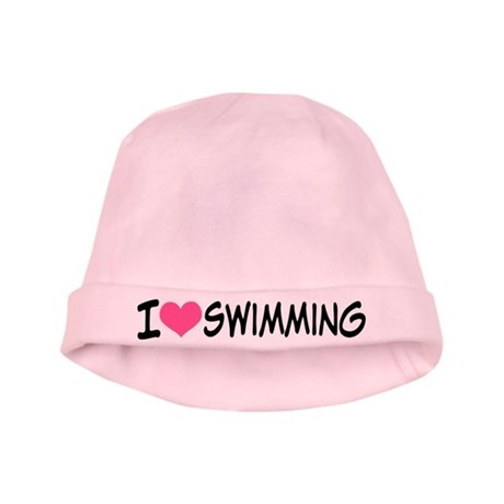 I Heart Swimming baby hat