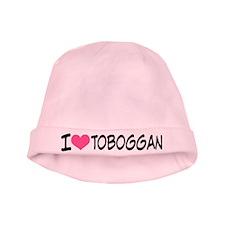 I Heart Toboggan baby hat