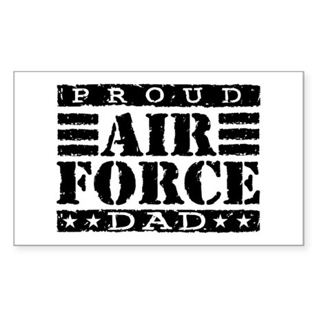 Proud Air Force Dad Rectangle Sticker